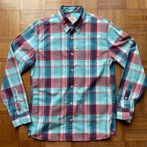 Brooks Brothers Men Red Blue Button Down Shirt M